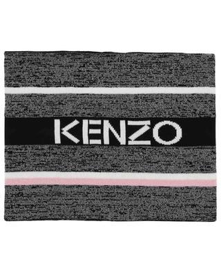 Glitzernder gestreifter Röhrenschal Kenzo Logo KENZO