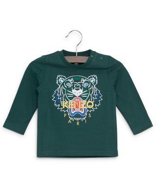 Langärmliges T-Shirt aus Baumwolle mit Print Tiger KENZO