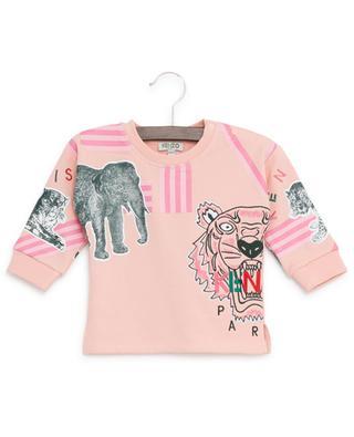 Sweatshirt aus bestickter Baumwolle Crazy Jungle KENZO