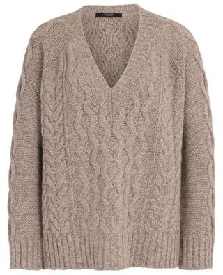 Zaffiro oversized V-neck cable knit jumper WEEKEND MAXMARA