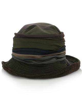 Chapeau multi-matière motif camouflage doublé de polaire GREVI