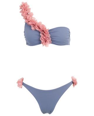 Rasha One Shoulder bikini with flowers LA REVECHE