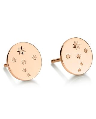 Milky Way pink gold ear studs GINETTE NY
