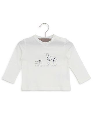 Langärmliges T-Shirt aus Baumwolle mit Print TARTINE ET CHOCOLAT