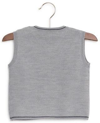 Ärmelloser Pullover aus Wolle mit besticktem Logo La Cérémonie TARTINE ET CHOCOLAT