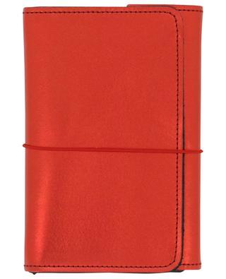 Carnet de notes Pocket Organizer cuir rouge LOUISE CARMEN PARIS