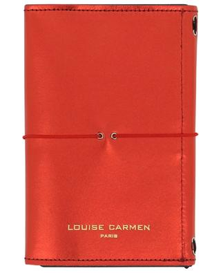 Red leather Pocket Organizer with note book LOUISE CARMEN PARIS