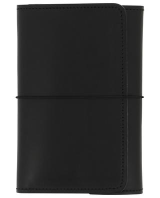 Pocket Organizer black leather note book LOUISE CARMEN PARIS