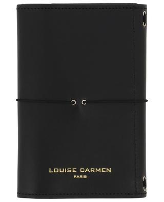 Carnet de notes Pocket Organizer en cuir noir LOUISE CARMEN PARIS