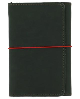Green leather Pocket Organizer note book LOUISE CARMEN PARIS