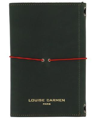 Notizbuch Pocket Organizer aus grünem Leder LOUISE CARMEN PARIS