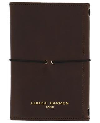 Carnet de notes Pocket Organizer en cuir marron LOUISE CARMEN PARIS
