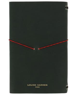 Carnets de note Road Book en cuir kaki LOUISE CARMEN PARIS
