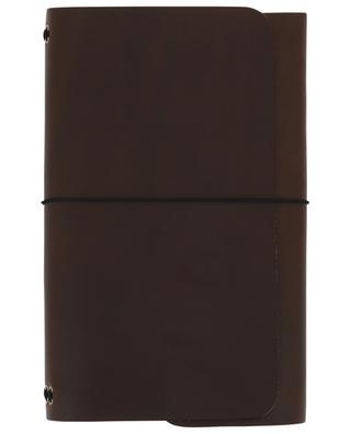 Carnets de note Road Book en cuir marron LOUISE CARMEN PARIS