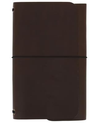 Brown leather Road Book note books LOUISE CARMEN PARIS