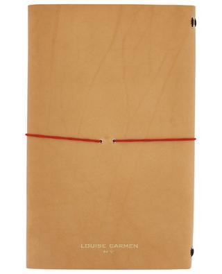 Carnets de note Road Book en cuir beige LOUISE CARMEN PARIS