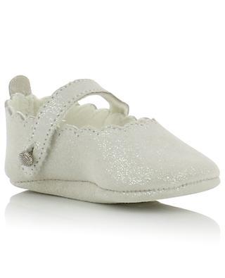 Premiers Pas glitter suede slippers TARTINE ET CHOCOLAT