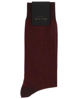 Chaussettes en cachemire et coton Brick Short ALTO
