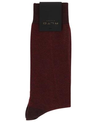 Brick Short cotton and cashmere socks ALTO