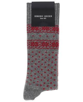 Cashmere blend socks with Scandinavian designs BLASIUS MARX