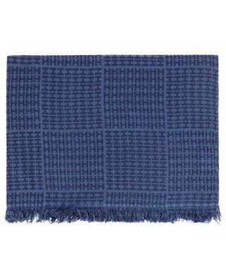 Sett-BCS monogrammed cashmere and silk scarf HEMISPHERE