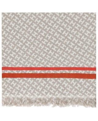 Radestripe cashmere and silk scarf HEMISPHERE