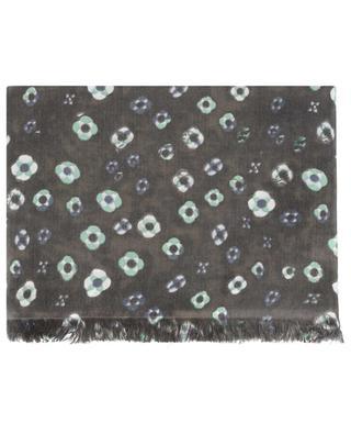 Sando-BCS floral cashmere and silk scarf HEMISPHERE