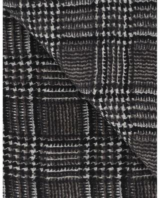 Pcolcheck-BWB lightweight glen check scarf HEMISPHERE