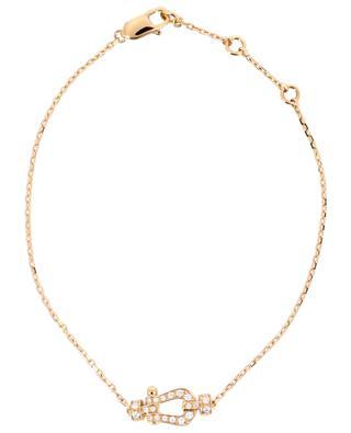 Bracelet Force 10 Petit Modèle en or rose et diamants FRED PARIS