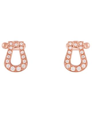 Force 10 pink gold and diamonds earrings FRED PARIS