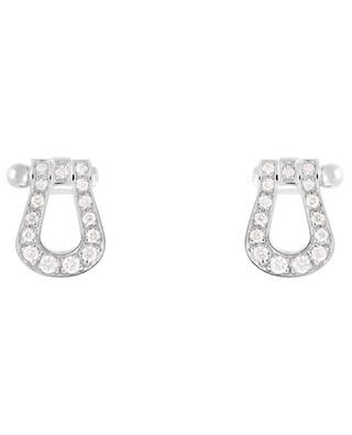 Boucles d'oreilles en or blanc et diamants Force 10 FRED PARIS