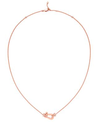 Medium Force 10 pink gold and diamonds necklace FRED PARIS