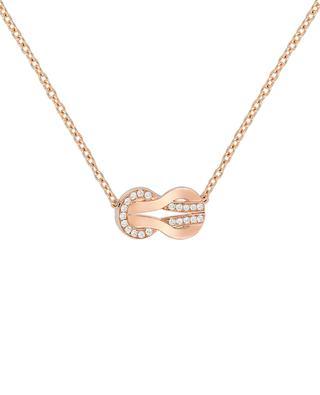 Collier en or rose et diamants 8°0 Medium FRED PARIS