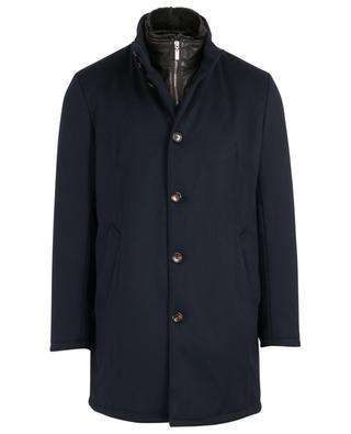 Mantel aus Schurwolle und Kaninchenpelz GIMO'S