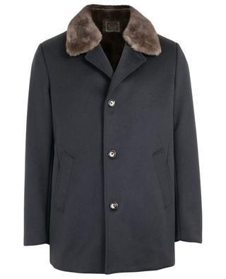 Manteau en cachemire et fourrure GIMO'S