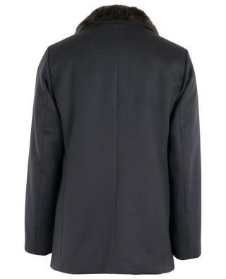 Mantel aus Kaschmir mit Pelz GIMO'S