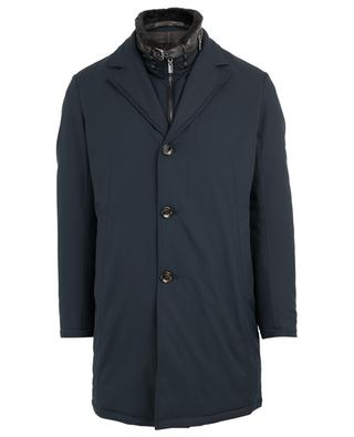 Gefütterter Mantel mit Kunstpelzkragen GIMO'S