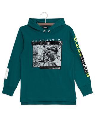 Langarm-T-Shirt mit Print und Kapuze Fonty DIESEL