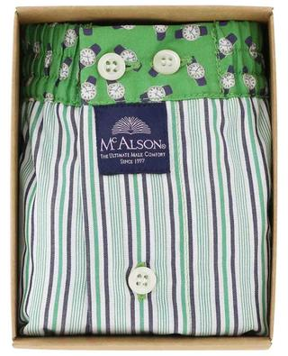 Stripe and watch adorned cotton boxer shorts MC ALSON