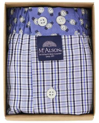 Check and watch adorned cotton boxer shorts MC ALSON