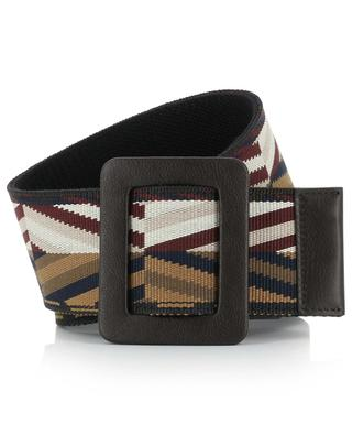 Cobalto large belt adorned with geometric patterns WEEKEND MAXMARA