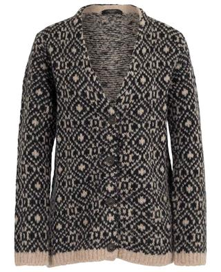 Muscari button-down diamond design cardigan WEEKEND MAXMARA