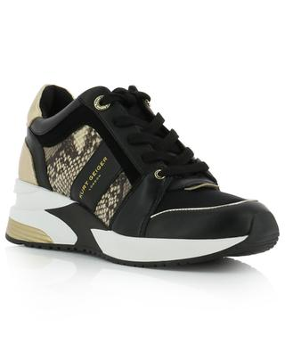 Lana snake detail wedge sneakers KURT GEIGER LONDON