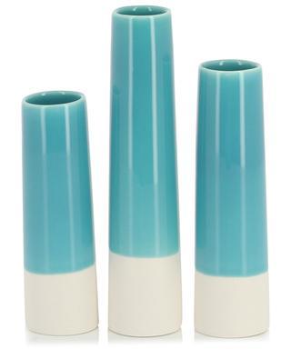 Lot de 3 vases soliflores en porcelaine et émail Tube DITTE FISCHER COPENHAGEN