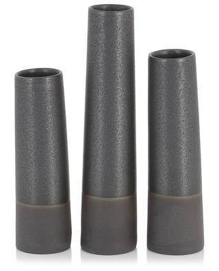 Set von 3 Vasen aus Porzellan und Emaille Tube DITTE FISCHER COPENHAGEN
