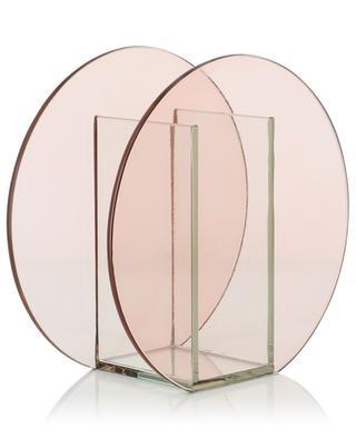 Vase aus Glas in Kreisform KLEVERING