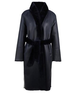 Manteau en peau lainée avec ceinture amovible SUPREMA