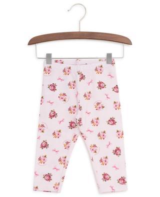 Baby-Leggings mit Rosenprint MONNALISA