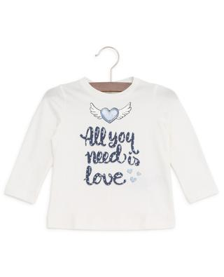 All You Need Is Love long-sleeved baby T-shirt MONNALISA