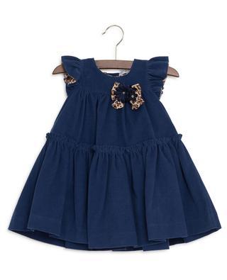 Gerüschtes Kleid aus Kordsamt MONNALISA